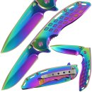 Einhandmesser TI Coated Rainbow